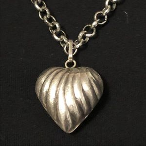 Sterling Silver necklace heart pendant
